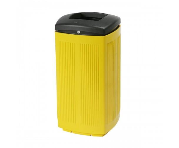 Toscana Polypropylene Yellow RAL 1021 Bin for street P-200-AMA