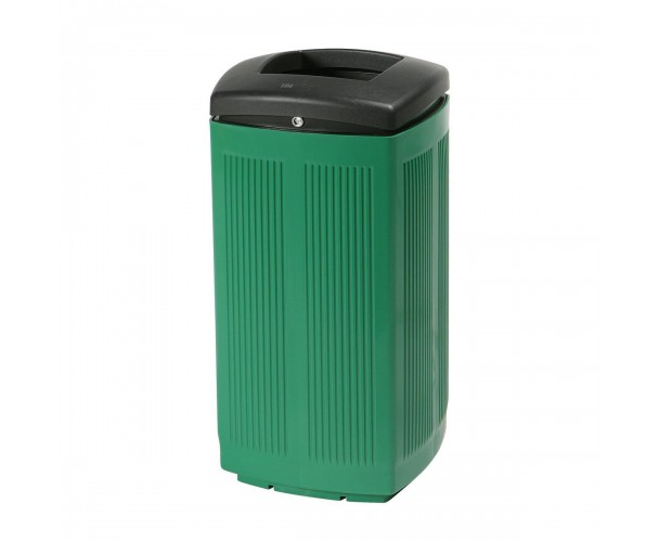 Toscana Polypropylene Green RAL 6029 Bin for street P-200-VER