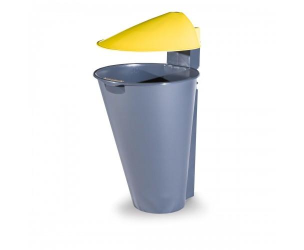 Alicante Polypropylene Yellow Bin for street P-201-AMAR