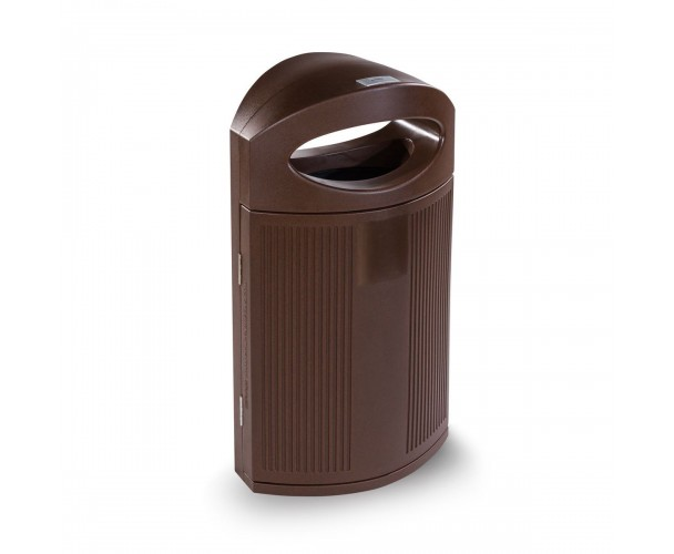 Ibiza Polyethylene Corten color RAL 8017 Bin for street P-23I-COR