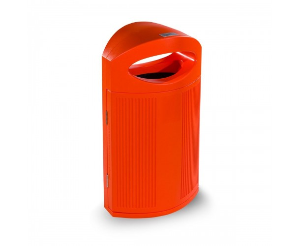 Ibiza Polyethylene Orange color RAL 2004 Bin for street P-23I-NAR
