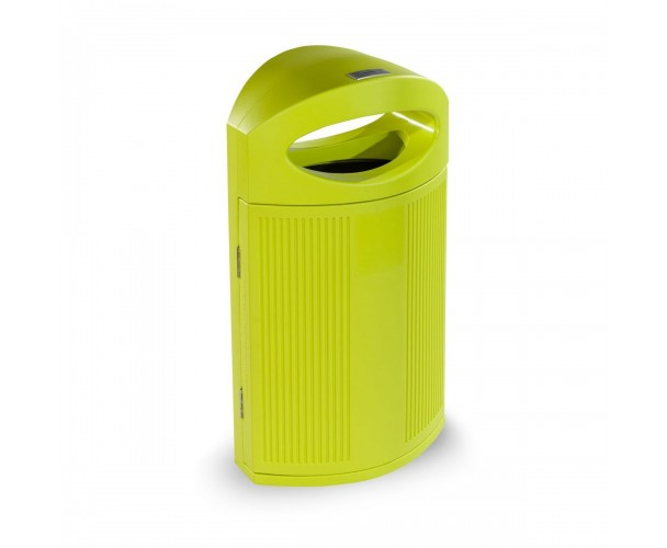 Ibiza Polyethylene Acid Green color RAL 1026 Bin for street P-23I-VEA