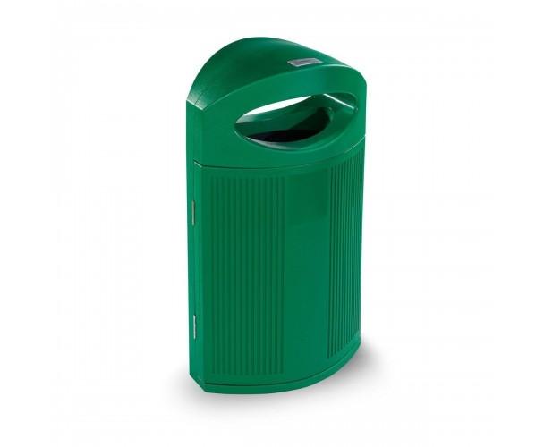 Paperera Polietilè de color Verd RAL 6029 Eivissa per al carrer P-23I-VER