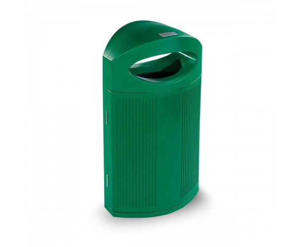 Ibiza Polyethylene Green color RAL 6029 Bin for street P-23I-VER