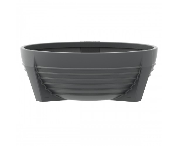 Circular Grey RAL 7021 flower box of polyethylene. futura P-300-GRI