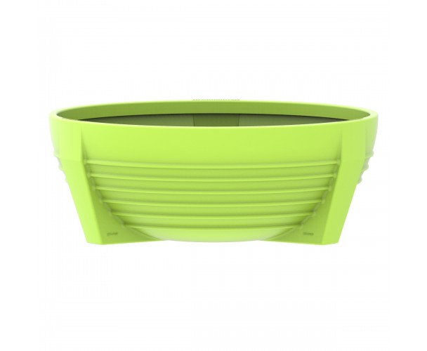 Circular Acid Green RAL 1026 flower box of polyethylene. futura P-300-VEA