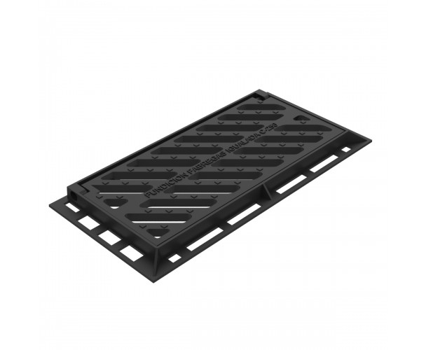 Senna folding scupper grate and frame of ductile casting B-19D