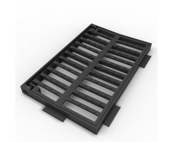 Concave folding scupper grate and frame of ductile casting B-22BDA