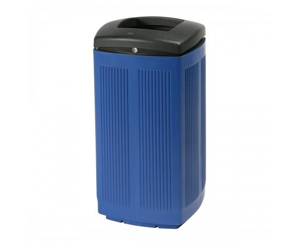 Toscana Polypropylene Blue RAL 5005 Bin for street P-200-AZU
